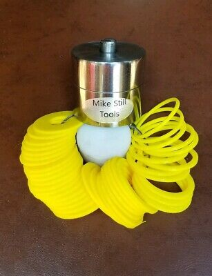 """New Coin Ring Center Punch That Will Punch A 1/2"""" Hole & 41 Plastic Spacers"""