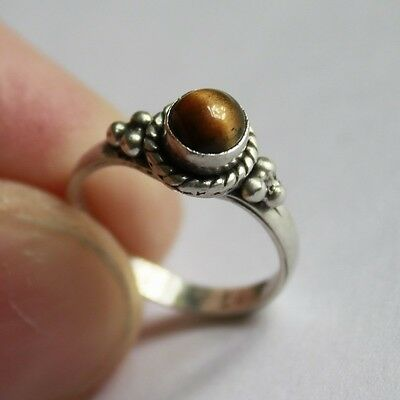 Antique Elegant Ring SILVER 925 with 100% Natural Stone ** SIZE 4 #R074