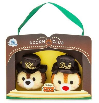 Disney Store Chip 'n Dale 75th Anniversary Tsum Set Plush New with Box FREE Ship