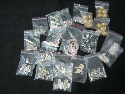 20 x packets Beads and Findings Jewellery Making incl Betty Boop Pendant