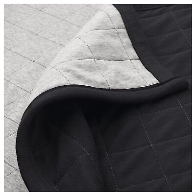 Limited Edition Spanst Cotton Throw Black / Grey 120x180 cm