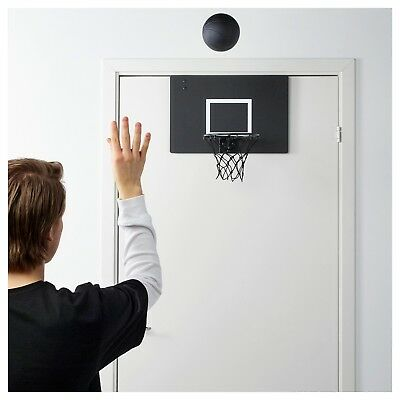 Limited Edition Spanst Basketball Hoop Net and Ball Indoor Black