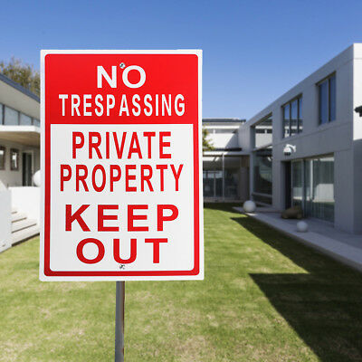 "8""x12"" Metal No Trespassing Private Property Keep Out Do Not Enter Aluminum Sign"