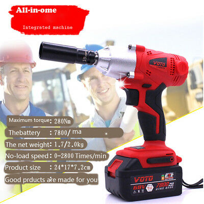 68V 7800mAh Impact Wrench Air Tools  Gun Set impact Wrenches Electric Drill Set