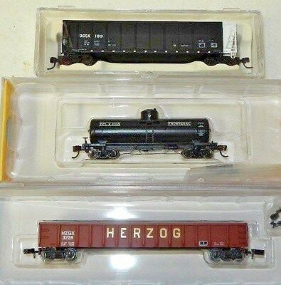 3 Various Makers N Scale US Railroad Freight Cars