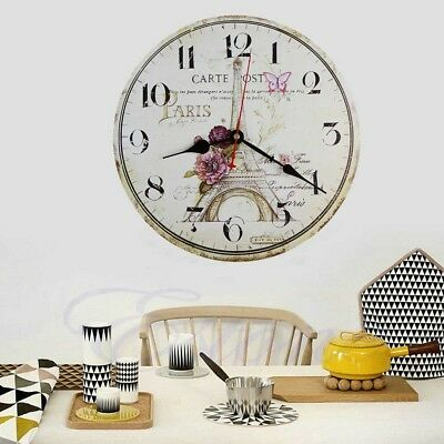 USA Room Antique Decor Wall Clocks Decoration Clock Shabby Chic Retro Kitchen