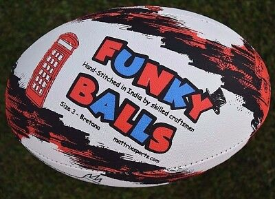 Rugby Ball Size 5 PRO Training Quality with 2 year shape guarantee NEW