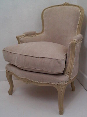 Vintage French Louis XV Bergere Armchair - Shabby Chic