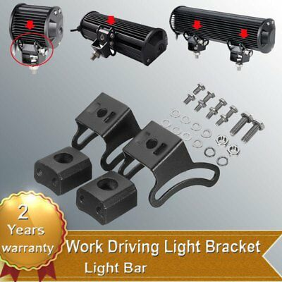 2x Slide Base Bracket Mount Holder For offroad LED Work Fog Driving Light Bar MG
