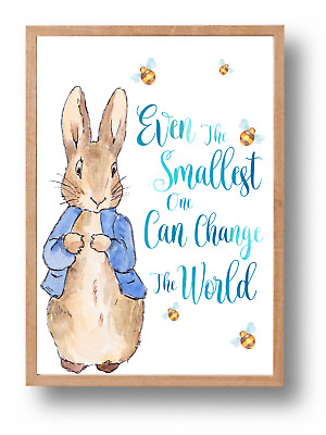 Even The Smallest One Peter Rabbit Beatrix Potter Nursery Wall Art Print, Baby
