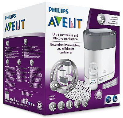 Philips Avent SCF287/02 Sterilizer steam electric 4 in 1 bottle-ready