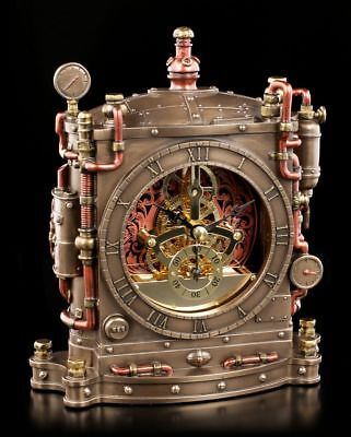 Steampunk Table Clock - Horologist - Veronese Gothic Table Clock Decor Table