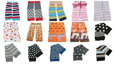 Multipack Baby Boys Girls Leg Warmers Stripes Polka Dots Animal Age 6-12M 1 2 3