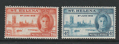 St Helena 1946 Victory Pair Sg 141-142 Mnh.