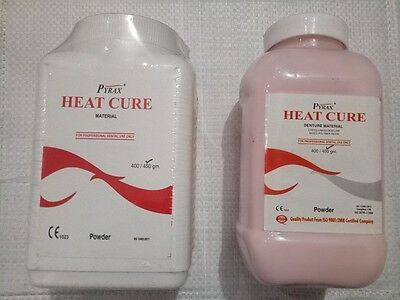 Dental HEAT CURE Material Powder for Acrylic Denture 450gm PYREX  FAST SHIP