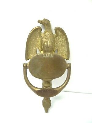 Vintage Used Metal Solid Brass Stamped 83 American Eagle Door Knocker Hardware