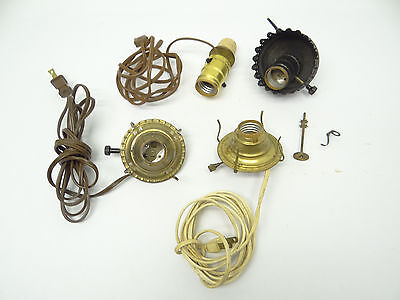 Lamp parts converted oil lamp part 120 picclick uk mixed used lot metal brass converted oil lamp burners parts electric light parts aloadofball Images