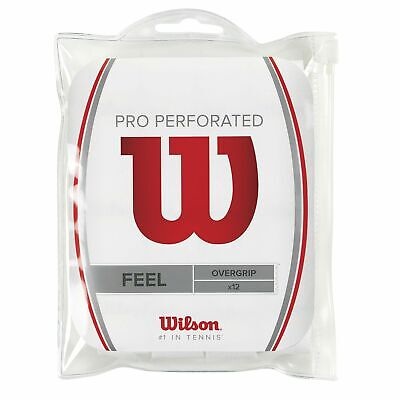 WILSON Perforated Pro tennis racquet racket OVERGRIP - 12 pack -badminton squash