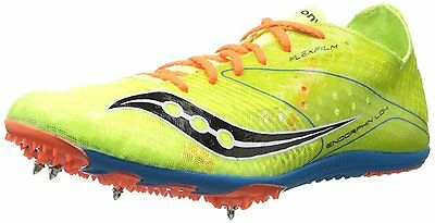 newest 6a46f d3957 SAUCONY ENDORPHIN LD4 Running Track Distance Racing Spike Shoe Yellow 12.5  NEW