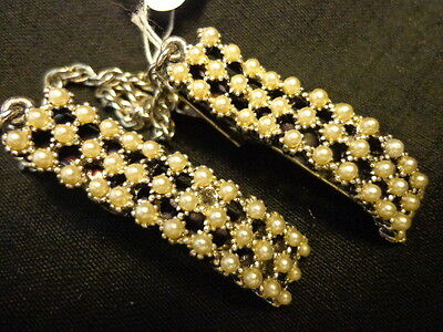 Vintage Pearl Sweater Guard Clip set 1950's SHIPS FREE(dom) MC