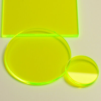 Flourescent Acid Green Gloss Laser Cut Plastic Circles 3Mm Acrylic Discs Perspex