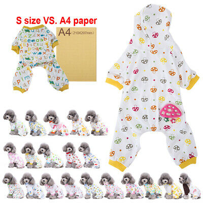 Cool Puppy Pet Dog Cat Casual Clothes Hoodie Jumpsuit Pajamas Apparel Costume