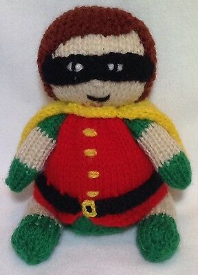 KNITTING PATTERN - Robin from Batman inspired choc orange cover or 14 cms toy