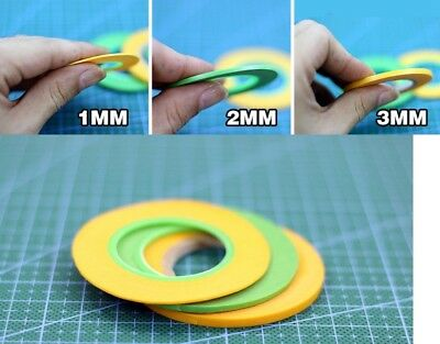 Model Spraying Coating Color Special Masking Tape Tool DIY Accessory 1mm/2mm/3mm