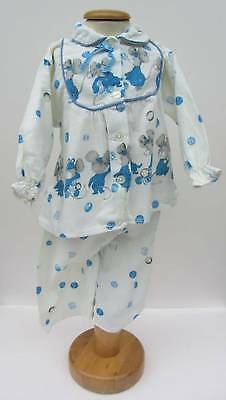 super cute baby PJ's mouse brushed cotton 60's kids age 1 girls