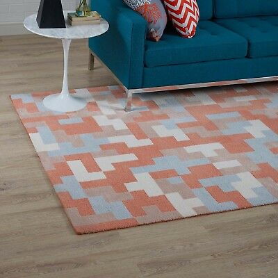 Contemporary Modern Abstract 8x10 Area Rug In Multicolored