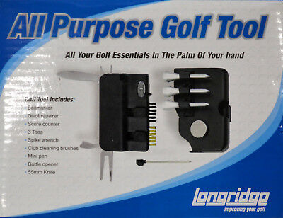 Longridge Golf ALL PURPOSE Golf Werkzeug mit 10 in 1