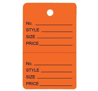 1000 Small Perforated Merchandise Coupon Price Tags Orange