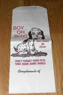 Restaurant Doggie Leftovers Dog Food Bag Boston Scottish Terrier Dachshund +++