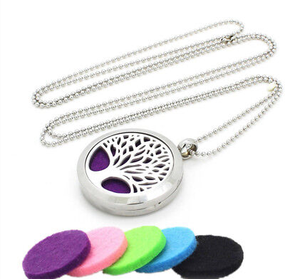 NEW 2018 Aromatherapy Essential Oil Diffuser Locket Pendant Necklace/Key Chain