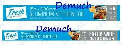 New ALUMINIUM KITCHEN FOIL Catering Foil Tin Food Grade Baking Oven Wrap BBQ UK✔