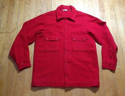 EUC Vintage Boy Scouts Of America Official Jacket Red Wool Men's 44 Made In USA