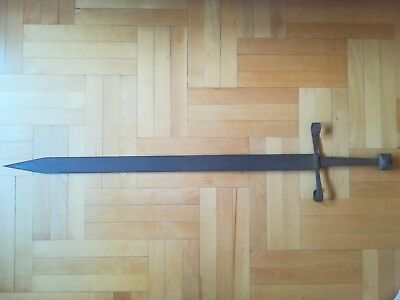 HOLY LAND MEDIEVAL KNIGHT CRUSADERS TWO-HAND LONG SWORD WEAPON 11-13 ct. 118 cm