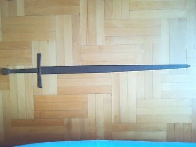 HOLY LAND MEDIEVAL KNIGHT CRUSADERS TWO-HAND LONG SWORD WEAPON 11-13 ct. 119 cm