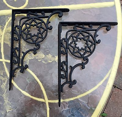 Antique Style Cast Iron Shelf Brackets....pennsylvania Dutch...large