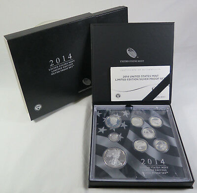 2014-S United States Mint Limited Edition Silver Proof 8-Coin Set