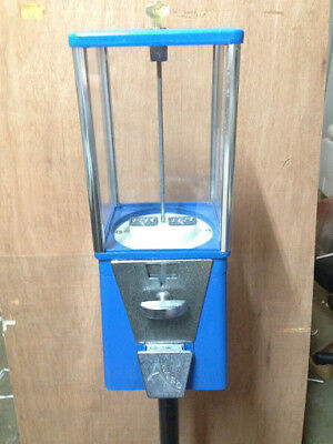One-Way Oak Vista Candy Toy Gumball Vending Machine No Pipe Stand OLD&DIRTY!!!