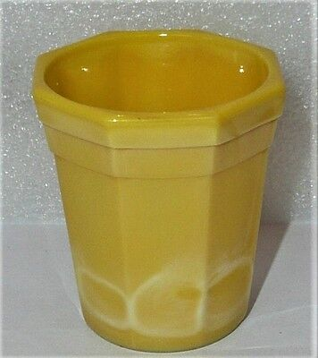 Akro Agate Octagonal Beautiful Yellow Tumbler ~ 7 Available
