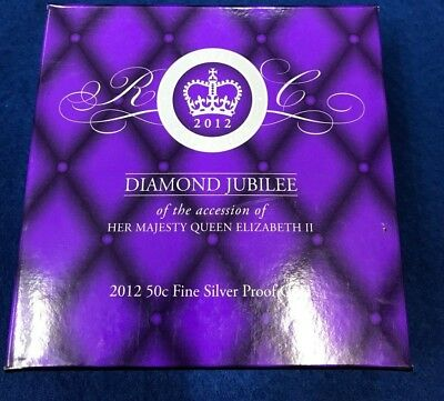 2012 50c Silver Proof Coin Diamond Jubilee of QEII