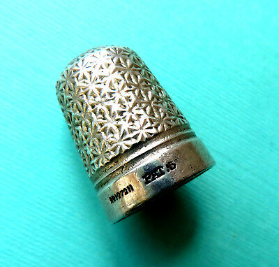 Antique Victorian Starflowers  Sewing Thimble ,registered Number For 1889.