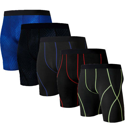 Men's Gym Sports Compression Wear Under Base Layer Shorts Pants Athletic Tights#