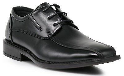 Men's Bike Bicycle Toe Classic Lace Up Oxfords Dress Shoes BRN04