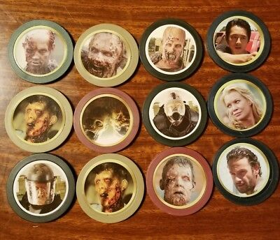 The Walking Dead Tokenz Lot of 12 Glenn rhee, rick grimes, Andrea, walkers