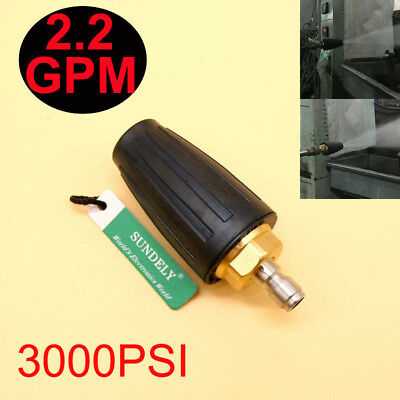 High Pressure Washer Cleaner Spray Turbo Nozzle Tip 3000PSI Black 2.2GPM