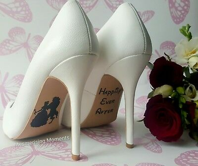 Disney Inspired Wedding Shoe Decal / Beauty and the Beast / Happily Ever After