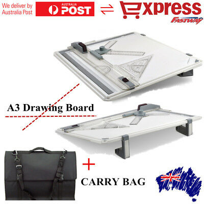 PRO A3 Drawing Board Table Tool &Parallel Motion Adjustable Angle w/Carry Bag